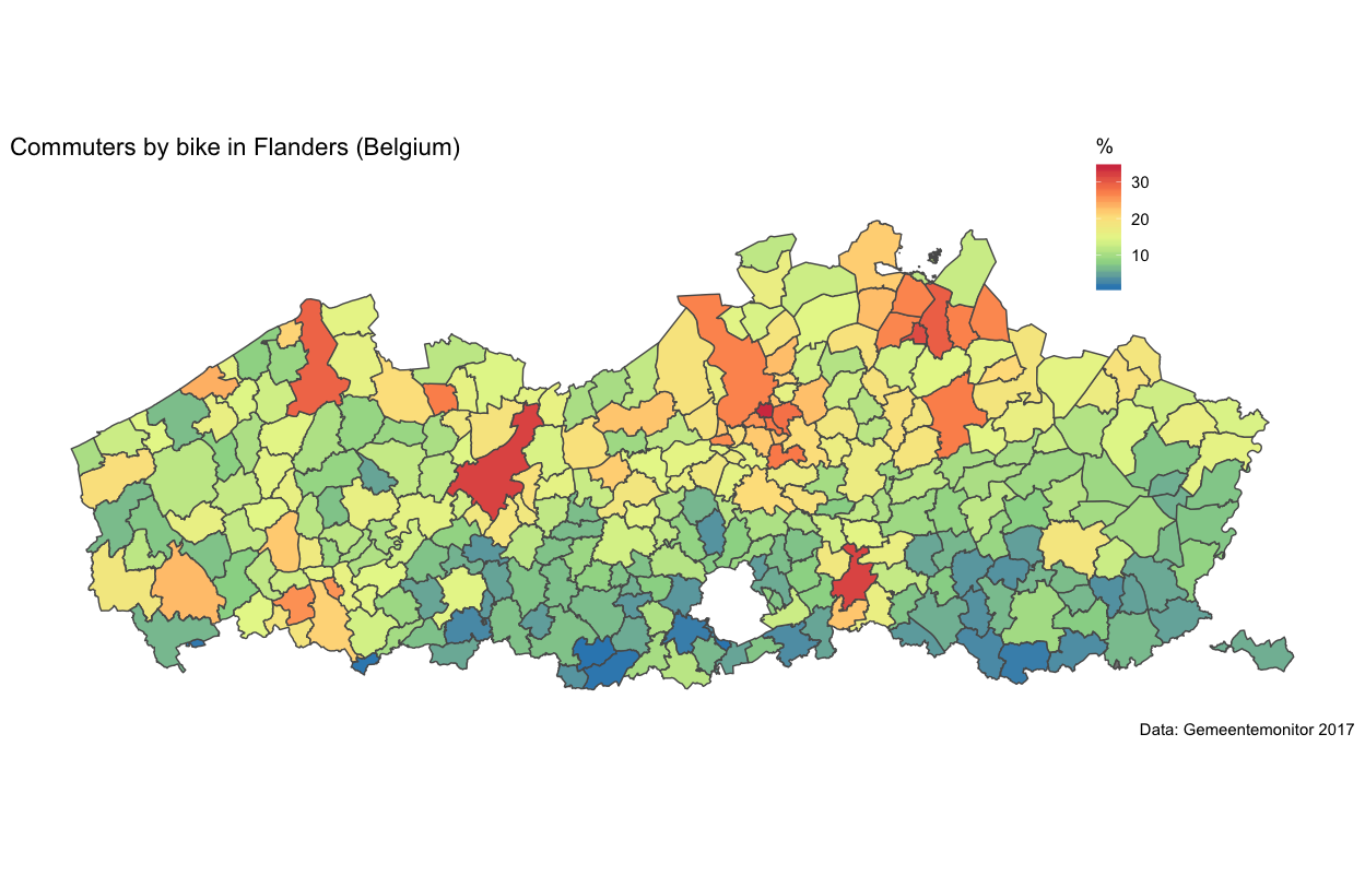 Choropleth maps with R - the Belgian edition | Wouter Van Dooren